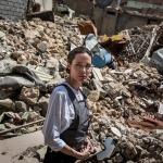 Angelina Jolie Musul'da ''Gördüğüm en büyük yıkım''