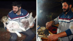 Adanalı kokoreççi sokak köpeklerini ninni söyleyerek uyutuyor