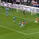 AZ Alkmaar-PEC Zwolle maçında top kaleye girmek istemedi