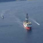 Yavuz'a Doğu Akdeniz güzergahında deniz ordusu eşlik ediyor