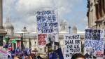 Londra'da binler Brexit için sokaklarda