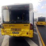 Halıcıoğlu'nda metrobüs kazası: Yaralılar var
