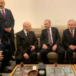 Cumhurbaşkanı Erdoğan, MHP lideri Bahçeli ile Meclis'te görüştü