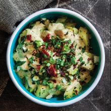 Pastırmalı Hardallı Patates Salatası