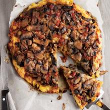 Patates Hamurlu Mantarlı Pizza
