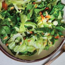 Sonbahar Yeşillikli Salata
