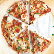 Kavurmalı Karnabahar Pizzası