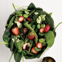 Taze İç Baklalı Ispanaklı Salata