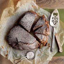 Tam Buğday Unlu Beyaz Çikolatalı Kek