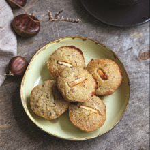 Beyaz Çikolata ve Kestaneli Sufle Muffin