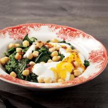 Nohutlu Ispanak Salatası