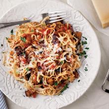 Patlıcanlı Parmesanlı Noodle