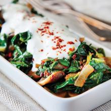 Ispanaklı Sıcak Salata