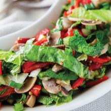 Mantarlı Biberli Salata