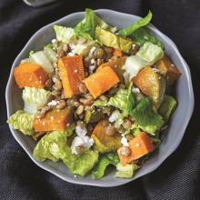 Yeşil Mercimekli Bal Kabaklı Salata