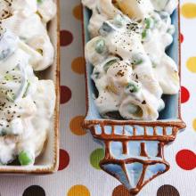 Patatesli Bezelyeli Makarna Salatası