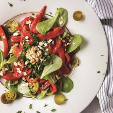 Közlenmiş Biberli Semizotu Salatası