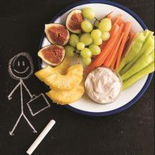 Fıstık Ezmeli Sos ve Taze Meyve Sebzeler