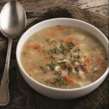 Buğdaylı Taze Biberiyeli Kök Sebze Çorbası