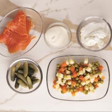 Somon ve Rus Salatalı Gougères