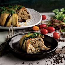 Taze Otlu Patlıcanlı Pilav