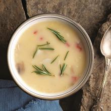 Bademli Biberli Mantar Çorbası