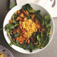Sarı Mercimekli Taze Ispanak Salatası