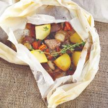 Kağıtta Sebzeli Kış Kebabı