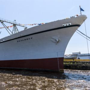 Nükleer güçle çalışan ilk yük ve yolcu gemisi olan NS Savannah açılış yolculuğunu yaptı