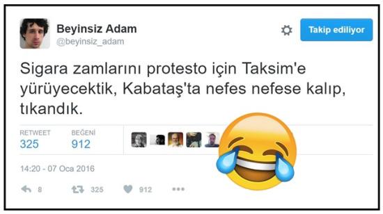 Güldürmeye programlanmış Beyinsiz Adam'ın mizah kokan 18 tweeti