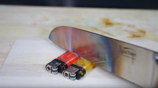 Isıtılmış bıçakla çakmak kesilirse ne olur?