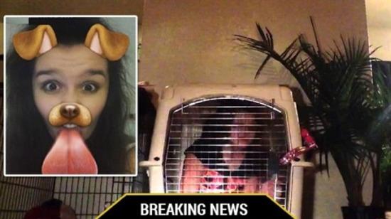 Kızını kafese kapattı: Snapchat yüzünden insanlıktan çıkan baba