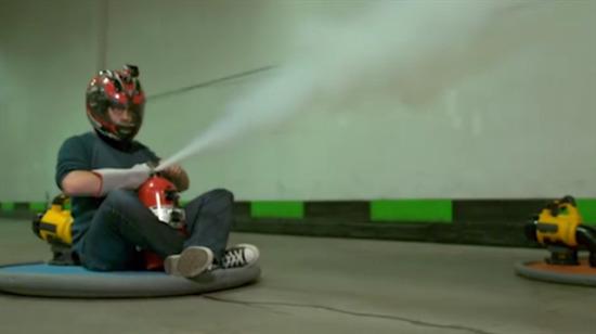 Yangın tüpüyle hovercraft yapmak