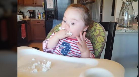 İlk defa krema yiyen kızın tepkisi!