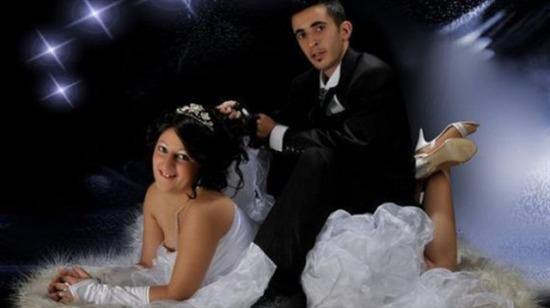 En ilginç düğün fotoğrafları!