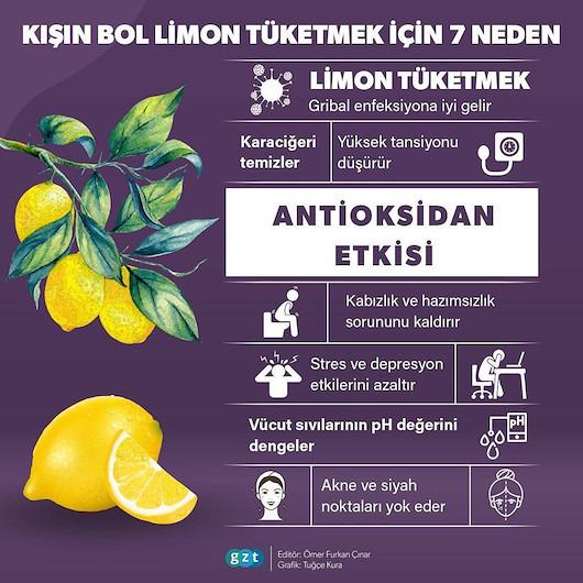 Kış aylarında bol bol limon tüketmek için 7 neden