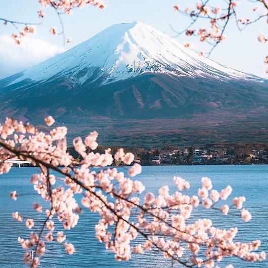 Fuji Dağı muhteşem manzarası