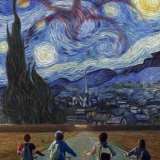 Stranger Things ekibi Van Gogh ile karşılaşırsa