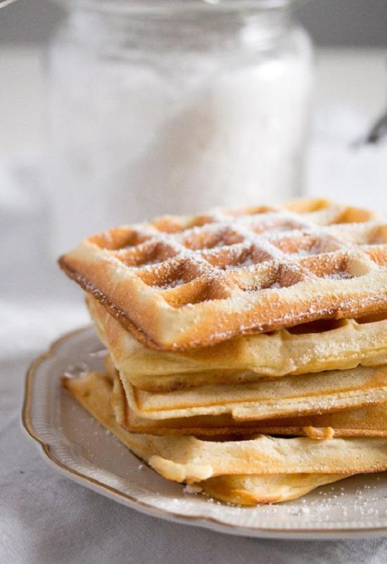 Ev yapımı Belçika waffleı