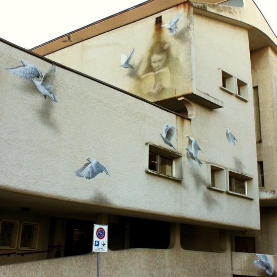 İtalyan sokak sanatçısı Eron'a ait bir çalışma