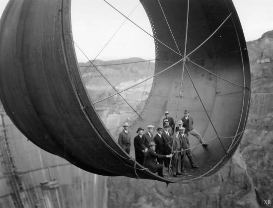Hoover Dam inşaatı, ABD, 1935