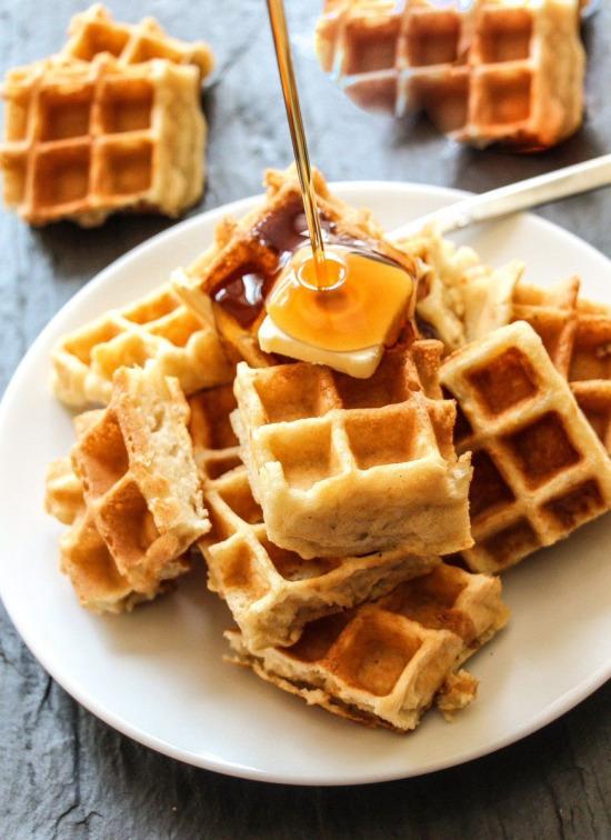 Ballı Belçika waffle