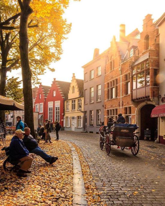 Belçika'nın Brugge sokakları
