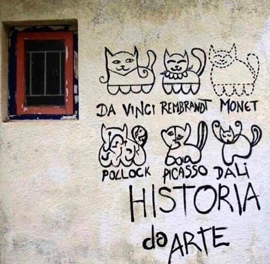 Kediler üzerinden sanat tarihinin muhteşem özeti