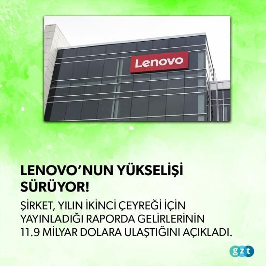 Lenovo'nun yükselişi sürüyor