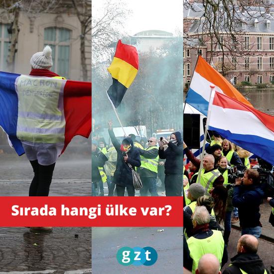 Sarı yelekliler Fransa'dan sonra Belçika ve Hollanda'da