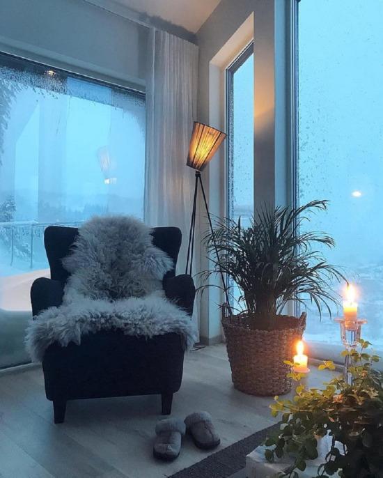 Tam kış köşesi... Al çayını kahveni otur sabaha kadar