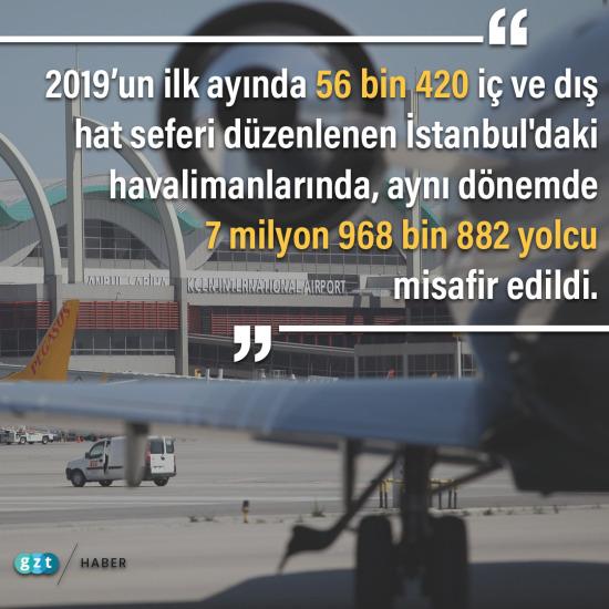 İstanbul havalimanlarının ilk ay raporu