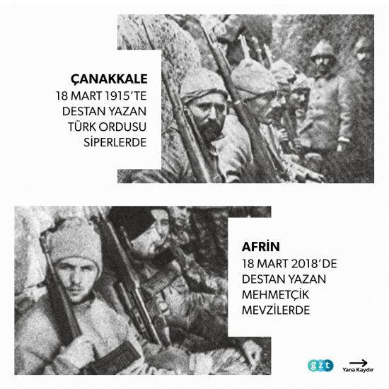 Çanakkale'den Afrin'e