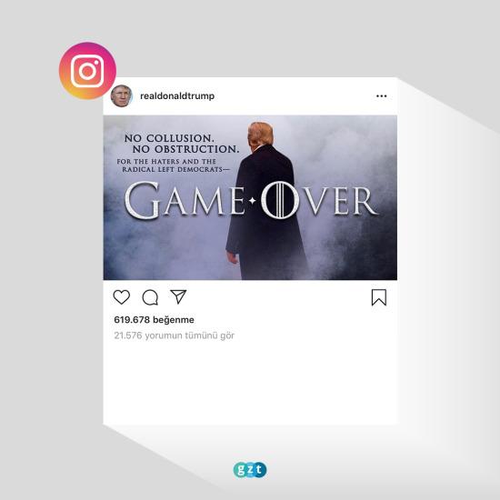 Başkan Donald Trump'tan Game of Thrones paylaşımı